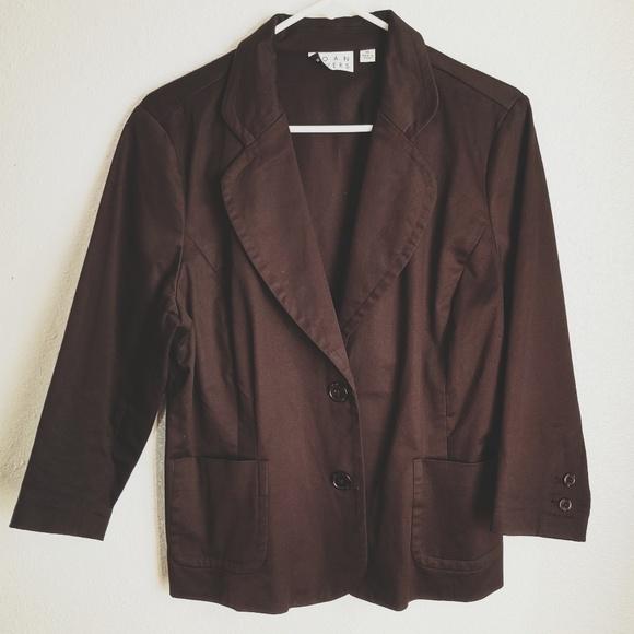 🏔️5/$25 Joan Rivers Size 14 Career Blazer suit